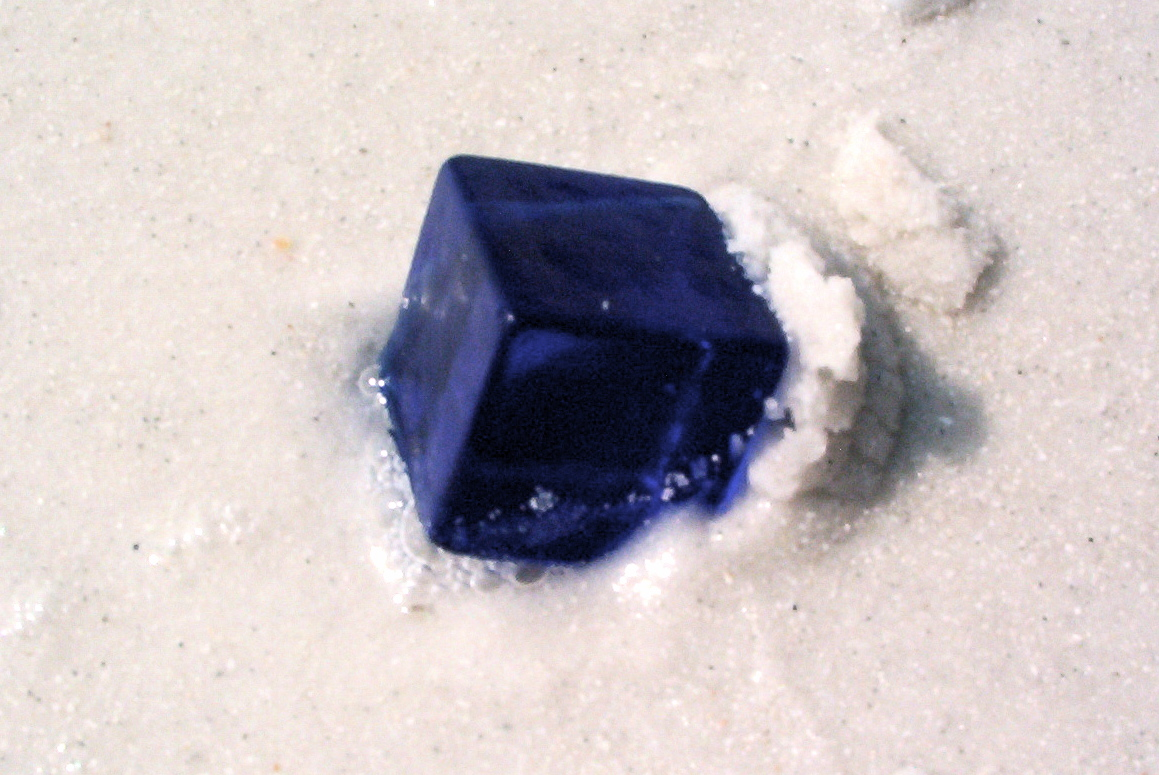 Although this cube isn't crystal, and the blue is darker than in my mind, this is a pretty decent image.